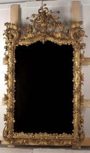 18th century Louis XV Giltwood Mirror