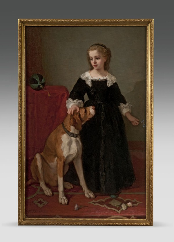 """""""Young Girl and Her Dog"""""""