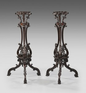 English Chippendale Revival Torcheres