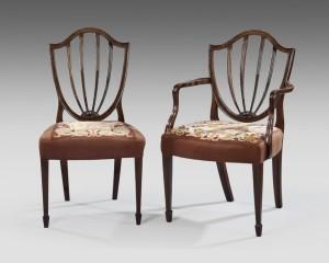 Hepplewhite Wheat Pattern Dining Chairs