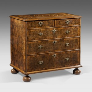 English William and Mary Walnut Chest