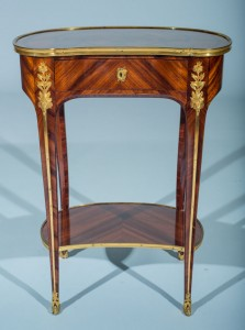 French Kingwood Marquetry Gueridon