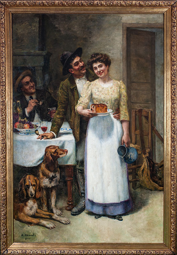 """""""The Baker's Wife"""" Painting"""