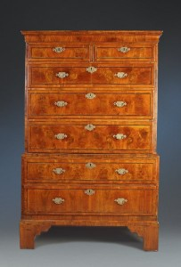 Queen Anne Figured Walnut Chest