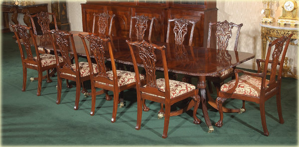 Chippendale Ribbon Back Style Dining Chairs