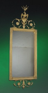 North European Neo-Classical Pier Mirror