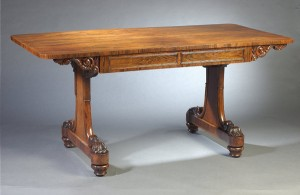 George IV Period Rosewood Library Table/Desk