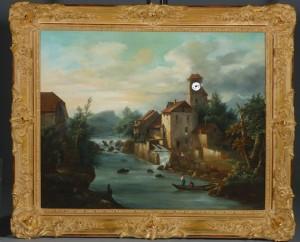Dutch oil on canvas landscape painting