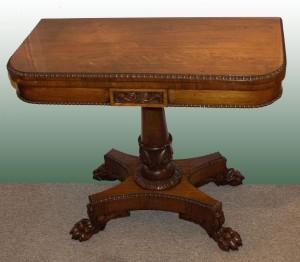 William IV Period Game Table
